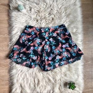 Charlotte Russe Floral Tropical Print Shorts